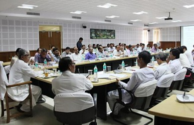 CM in a meeting with Tribal Advisory Committee at Secretariat. TIWN Pic Aug 25