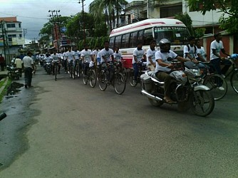 Cycle Rally organised by Forest Department on 65th Banmahotsav. TIWN Pic July21