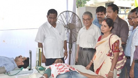 Dy Speaker and Mayor visits a blood donation camp orginased by Yuba Sangha Agartala. July 6