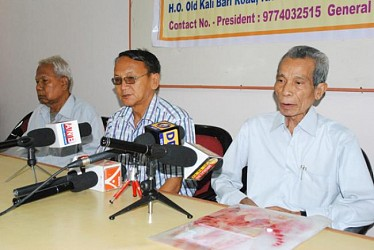 IPFT President NC Debbarma  addressing the press meet at press club