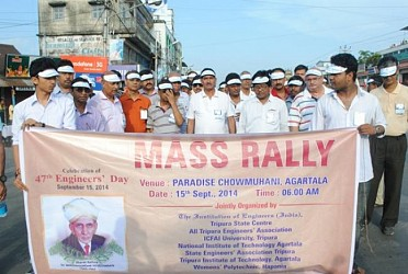 Mass rally being organized on Engineers' day at Agartala. TIWN Pic Sept 15