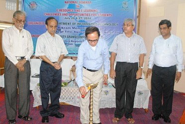 Minister Tapan Cakraborty inaugurating national seminar. TIWN Pic July26