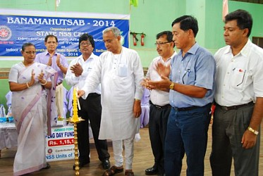 Minister Sahid Chowdhury inaugurating Vanmohatsav at Tripura Sports School. TIWN Pic July23