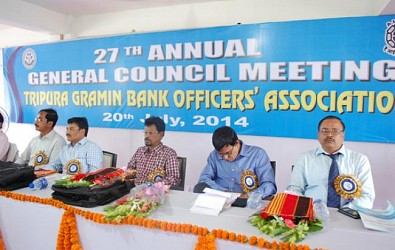Tripura Gramin Bank organise 27th Annual General Council Meeting. TIWN Pic July20