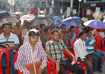 Tripura disable rights fourm holds demonastration at City Centre. TIWN Pic July 30