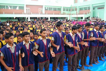 Tripura sports school students observe Vanamahotsav. TIWN Pic July23