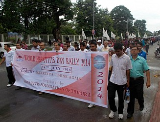 World Hepatitis Day rally at Agartala. TIWN Pic July28