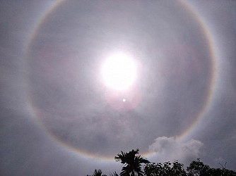 Nature's mystery cloud ring as seen from Udaipur. TIWN Pic Sept 14