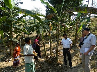 Indo-German Project review team visiting Dhalai