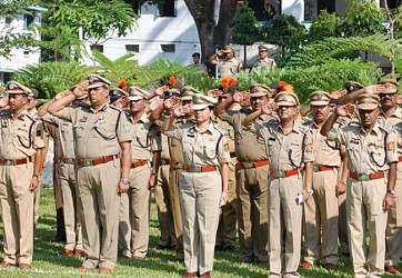 Police guard of honour on Martyrs Day at A.D Nagar Police ground. TIWN Pic Oct 21