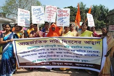 International Women's Day Rally at Agartala. TIWN Pic March 8