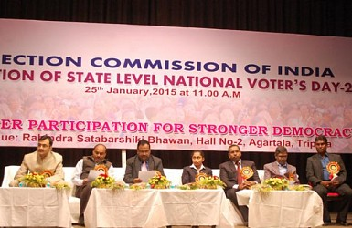 State Level National Voters Day 2015 celebration at Rabindra Bawan. TIWN Pic Jan 25