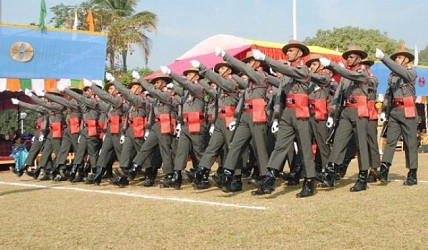 Colorful parade at AR Ground marks 66th Republic Day. TIWN Pic Jan 26