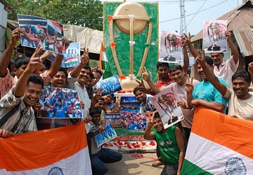 Cricket world cup fever at Agartala. TIWN Pic March 26