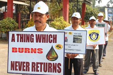 GAIL staged a rally on oil and natural gas conservation at Agartala. TIWN Pic Jan 28