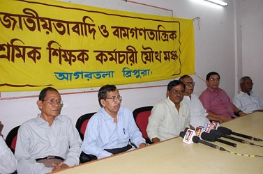 Joint forum leaders hold press meet at Press Club. TIWN Pic March 25