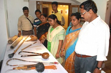 People visiting a exhibition on Cultural Heritage of Manipur at State Museum. TIWN Pic feb 26