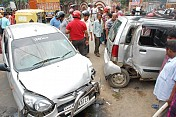 Road mishap at Agartala left one injured