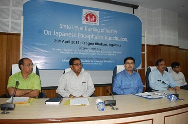 State level training of Trainer on Japanese Encephalitis Vaccination held at Pragna Bhawan, Agartala. TIWN Pic Apr 25