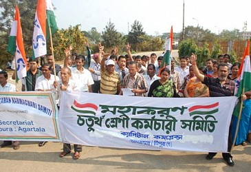 TMKS stage protest rally over CM's controversial speech at Civil Secretariat. TIWN Pic Feb 27