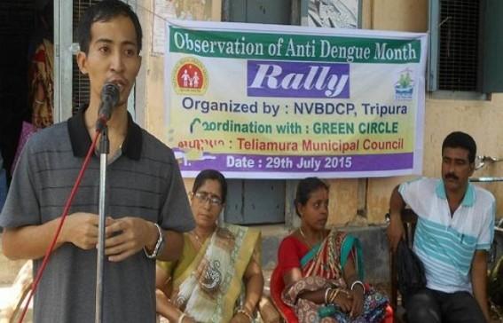 Anti Dengue Month Program observed at Teliamura  Mincipual Council