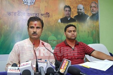 BJP held press meet at party office. TIWN Pic May 4