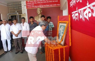 Birth anniversary of karl marx observed at CPI-M party office. TIWN Pic May 5