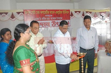 Blood donation camp held at Post Office chowmuhani. TIWN Pic May 28
