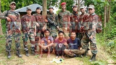 Bru terrorists network expands along Tripura-Mizoram border : Narcotics smuggling, Extortions finance terrorist outfits : Assam Rifles 30th Battalion nabbed 3 Bru Terrorists in North Tripura