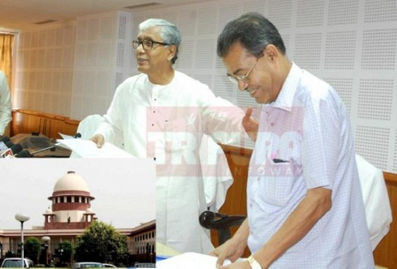 Manik Sarkar- Bhanu  joint effort to deprive Tripura Govt employees : Gov't to challenge HC's verdict in the Supreme Court about 31% pending DA ; Employees fate in Manik's rule likely to be paralyzed