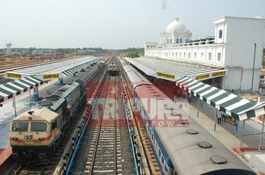 First BG trial train leaves from Agartala railway station for Silchar. TIWN Pic May 3