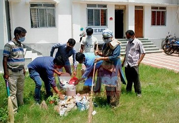Health department staged Swachh Bharat Abhiyan at Agartala. TIWN Pic May 27
