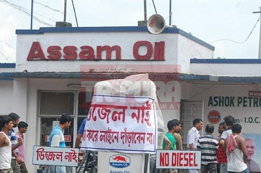 Petrol & Diesel crisis at Agartala. TIWN Pic July 30