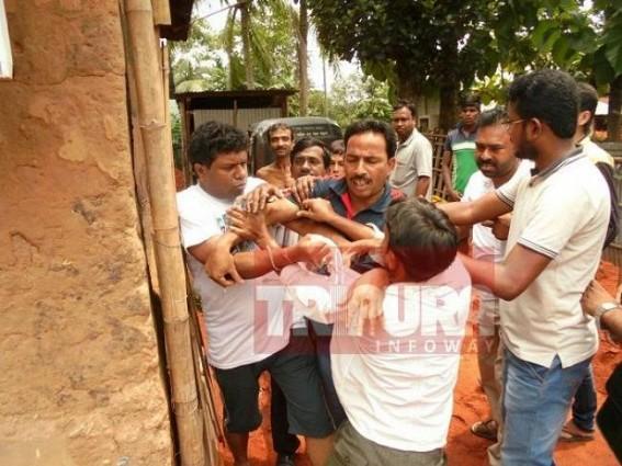 Family demolished 1988's Rajib Gandhi's idol : fights erupted among neighbors