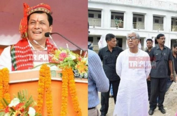 Sonowal's 1 yr Vs Sarkar's 24 yrs : 20,000 teachers recruited at Assam in last 1yr following 7th pay commission recommendations, GDP growth 21 %, Tripura under CPI-M deprivation