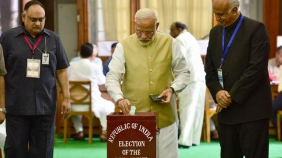 Modi, Shah vote in Presidential election