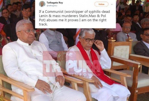 'If a Communist abuses me it proves I am on the right track' : Tripura Governor attacks murderer Communist Parties since Lenin era