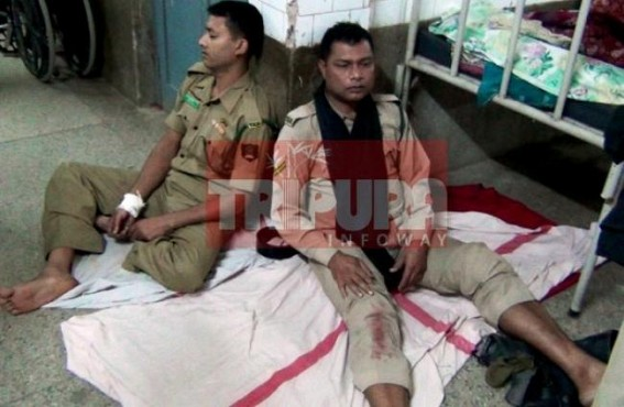 17 TSR Jawans wounded in road accident