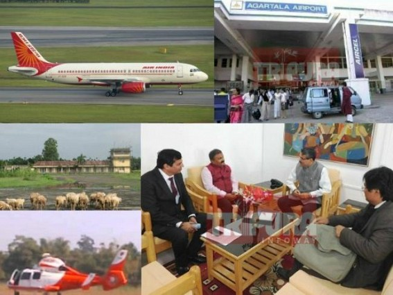 After Railways, Tripura's Air connectivity to get a boost under Modi Govt's UDAN : AAI Chief arrives in Tripura : Kailashahar Airport will be the first project