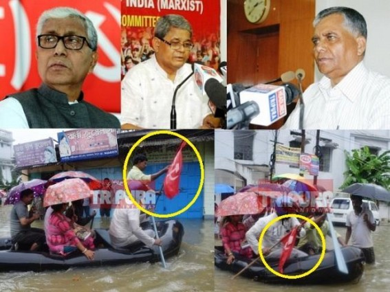 Tripura CPI-M launches 'red flagged' rescue-boats to save Communist's  sinking Election vessel : working with NDRF to 'Help' Agartala people !!!