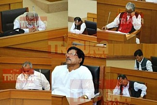 Dozing off in Tripura Assembly ! MLAs lead, but Chief Minister is not far behind