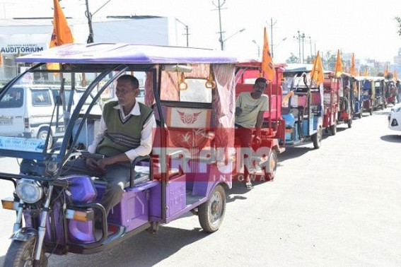 Eco-friendly E-Rickshaws banned in Tripura : BMS protests