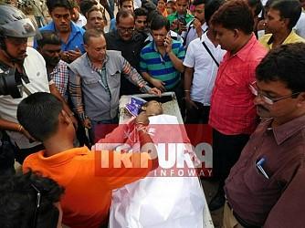 Tripura's senior journalist Sudip Datta Bhaumik shot dead by TSR 2nd Bn. TIWN Pic Nov 21