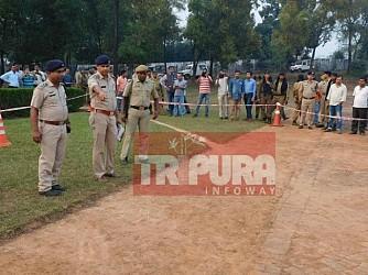 Police investigating Tripura's senior journalist Sudip Datta Bhaumik's murder case at TSR 2nd Bn Camp. TIWN Pic Nov 21