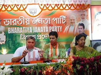 BJP held press meet. TIWN Pic March 29
