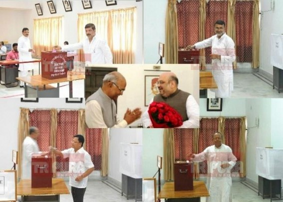 Presidential election : 'It's the first step to join Anti-CPI-M political axis', says Tripura former Congress MLAs after voting for Kovind