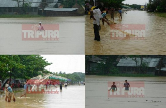 More showers in Tripura, neighboring Bangladesh : Flood taking worst shape as rivers swell up