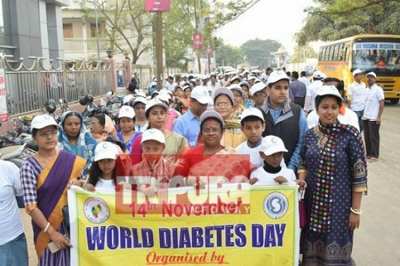 Rally conduced to mark World Diabetes Day