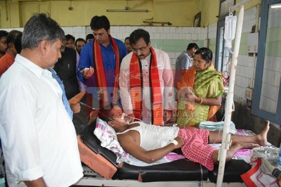 7 ABVP activists brutally injured by SFI : Ram Madhav meets victims