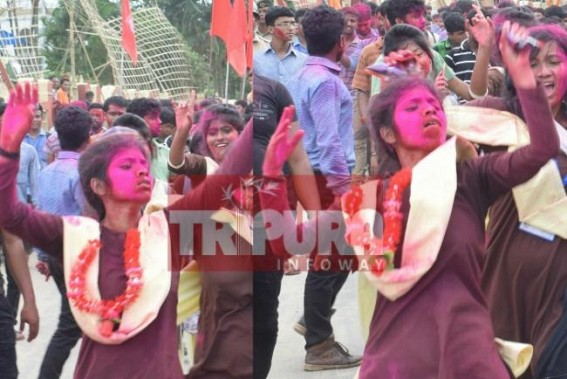 SFI's insane rally hits Agartala City ! What better can be expected from Nilanjana's followers ?